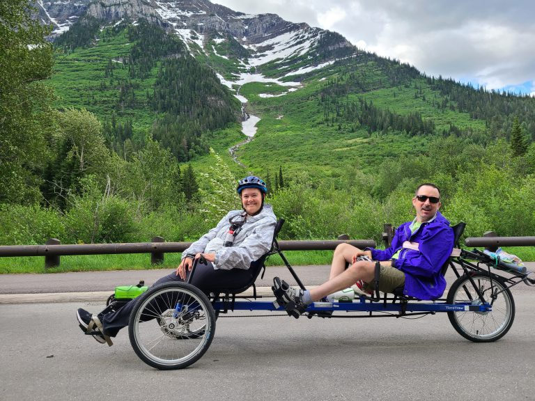 two people on an adaptive bike