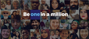 Be one in a million. All of us.
